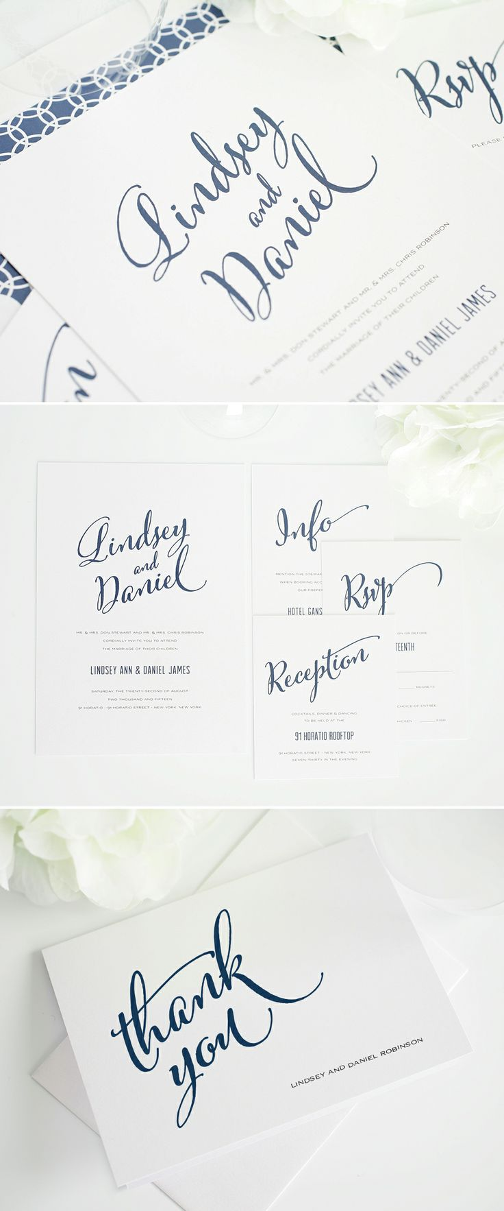 modern script wedding invitations #invitations #thankyou #stationery http://www.shineweddinginvitations.com/wedding-invitations/modern-script-wedding-invitation