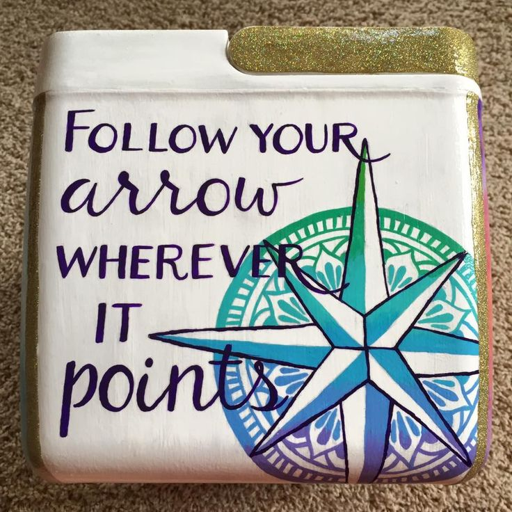 Follow your arrow | painted cooler