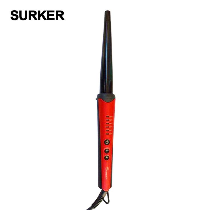 SURKER  6 files LCD temperature control conical tube ceramic hair curlers  electric curling irons Automatic hair crimper  #Affiliate