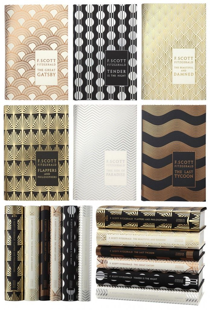 art deco fitzgerald collection.  Pretty and fantastic stories!  Tender is the Night, Great Gatsby.