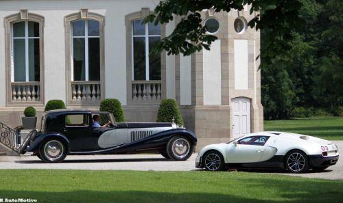 Bugatti Royale and Veyron. Titans.