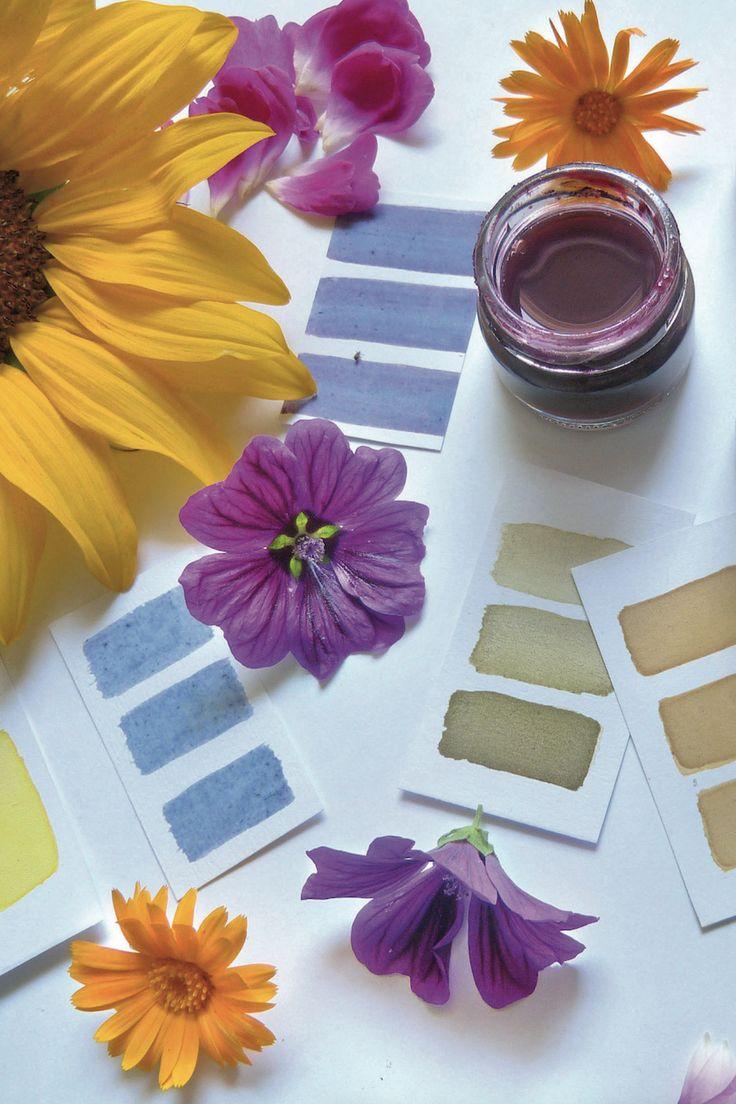 pflanzenfarben selber machen  pflanzen natur handwerk