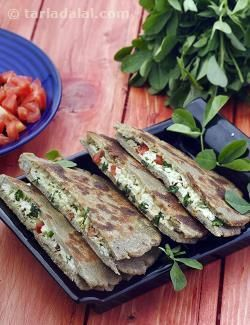 Stuffed Bajra Parathas to be absolutely enjoyable. A filling of grated paneer…