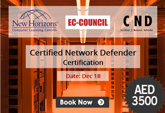 Enroll for EC-Council Certified Network Defender Certification (CND) course at New Horizons Dubai .  Schedule Date : Dec 18   Contact us on +971 4 3962222 or email at courses.dubai@newhorizons.com  Read more about http://www.newhorizons.ae/training-certifications/course-outline/id/155?c=ec-council-certified-ethical-hacker-ceh-v9.0#details