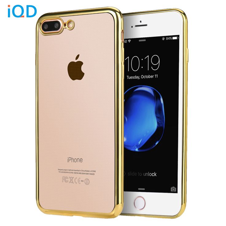 IQD For iPhone 6 6s 7 plus Bumper Case Slim Cases - Scratch Resistant Silicon Back Panel - Cover for Apple iPhone 7 Bumper