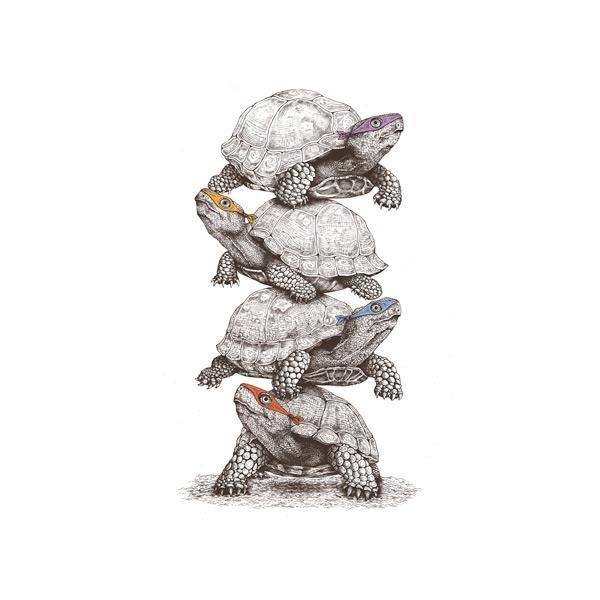 "Love the style! ""Ninja Turtles"" by Stan Devenson http://beta.threadless.com/profile/2406763/stan-devenson/  https://www.facebook.com/ILoveFunnyArt"