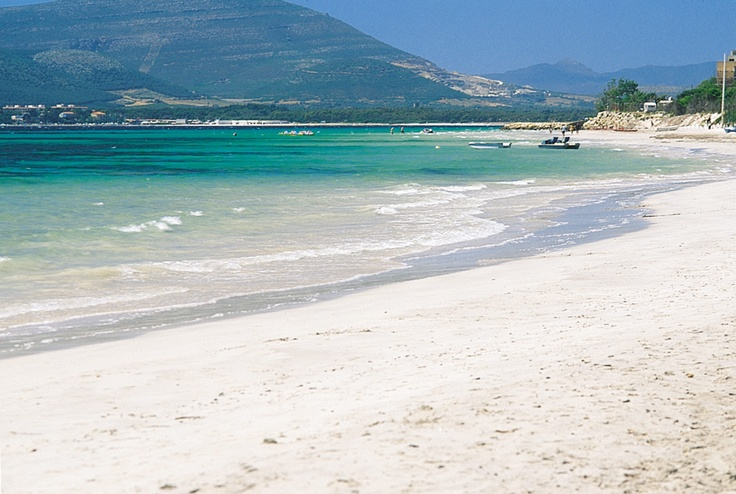 Alghero Beach Sardinia Close to the  popular Residence Oasis which is situated, just a short transfer from the airport and across the road from the long white sandy beach leading to Alghero town.