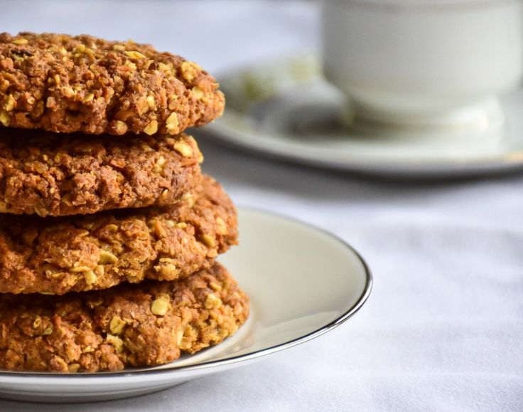 Anzac biscuits are traditional Australian favourite - and becoming my favourite simple treat. So comforting and perfect with a cup of tea. #anzacbiscuits #baking #sweettreat #oatcookies #cookies #teatime
