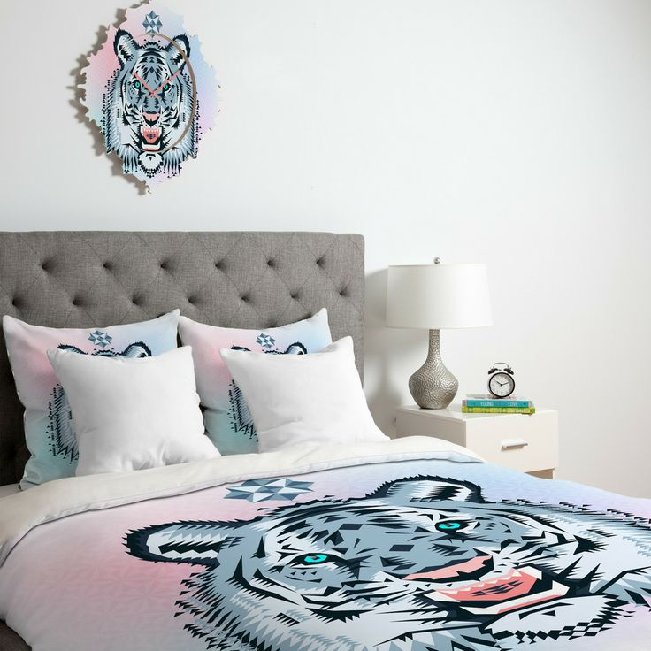 Chobopop Snow Tiger Duvet Cover | DENY Designs Home Accessories