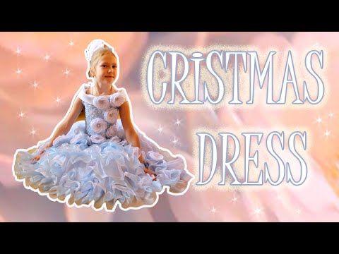 Новогоднее Платье с Цветами из Лент Своими Руками Канзаши Мастер- Класс KANZASHI - YouTube