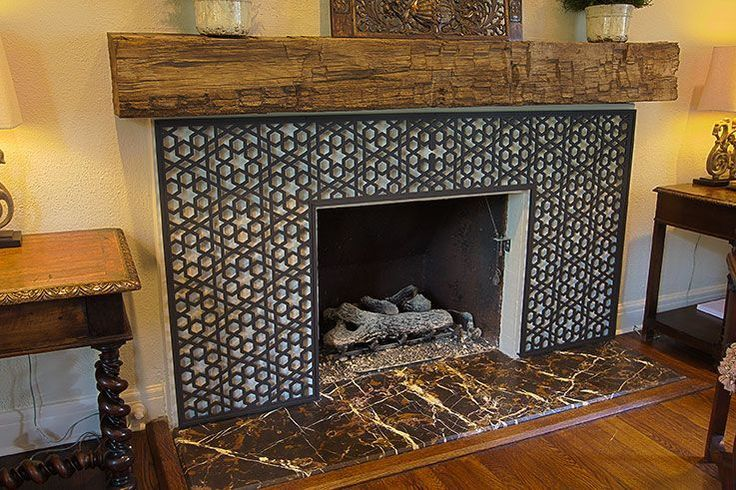 Moroccan Ironwork Fireplace Stone Masters Of Texas Interiors Inside Ideas Interiors design about Everything [magnanprojects.com]