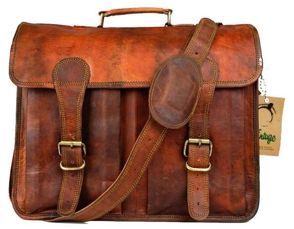 Vintage Leather Melbourne Satchel Bag - Vintage Leather