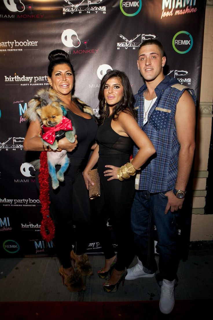 """Angela """"Big Ang"""" Raiola was a single mother with two kids, her daughter Raquel and son AJ. The family is pictured here at the MIAMI MONKEY Premiere Party on Sept. 8, 2013 in New York City."""