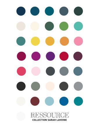 Sarah Lavoine - Le nuancier de peintures chez Ressources - Le blog deco de MLC