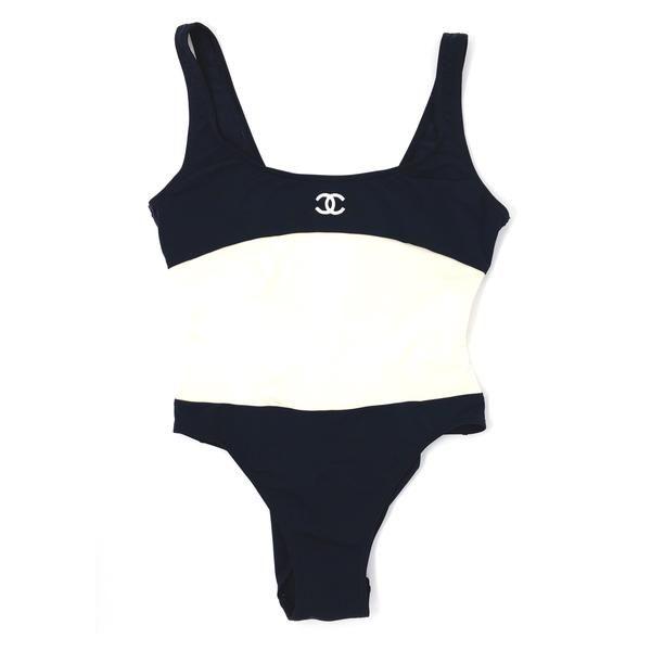 Chanel Logo Swimsuit Bodysuit S M Treasures Of Nyc Con