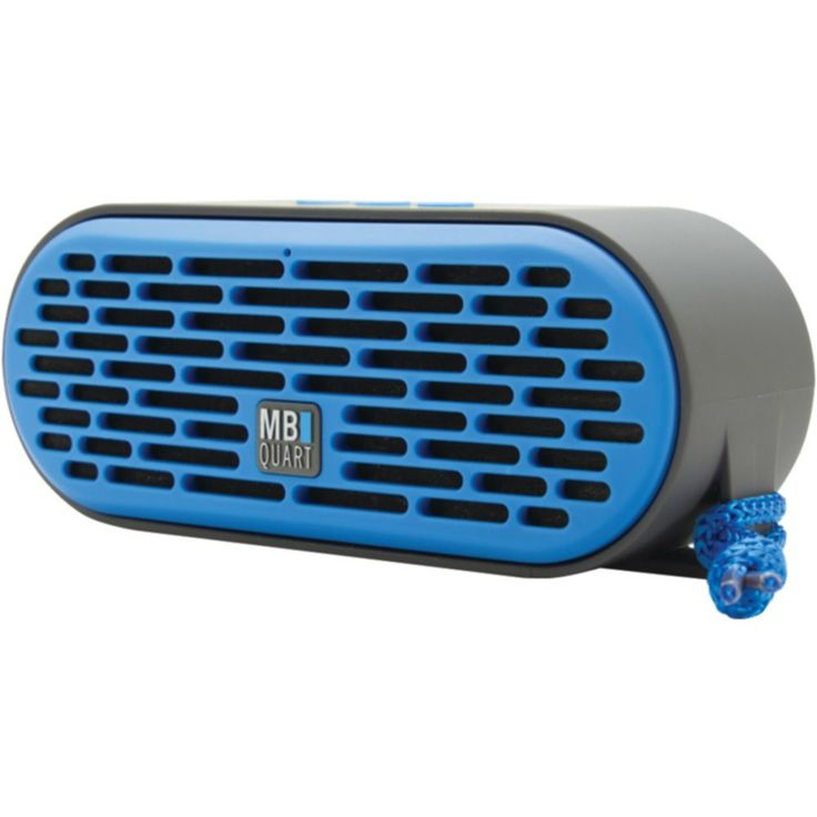 MB Quart QUB3.10201 Dual-Driver Bluetooth(R) Speaker with Passive Radiator (Gray Body & Blue Grille)