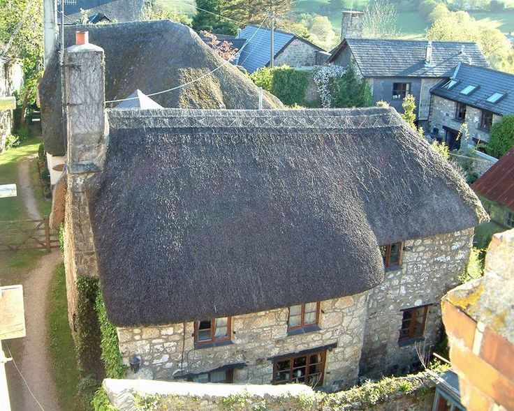 Weavers Cottage from above.  Chagford, Devon---parts of it are 600 years old!