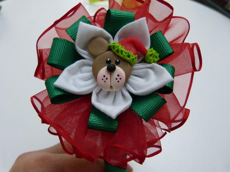 diademas navideñas forradas facilmente y decoradas con moños cinta organ