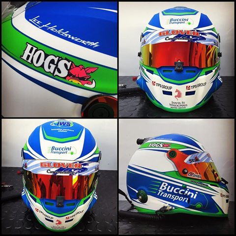 """We are super thrilled to be featured on V8 Supercar Champion Lee Holdsworth's helmet! :) """"Loving my new lid by @antmanhelmetdesign ! Looks seriously cool in matte colours. Can't wait to slip my head into it tomorrow morning!"""""""