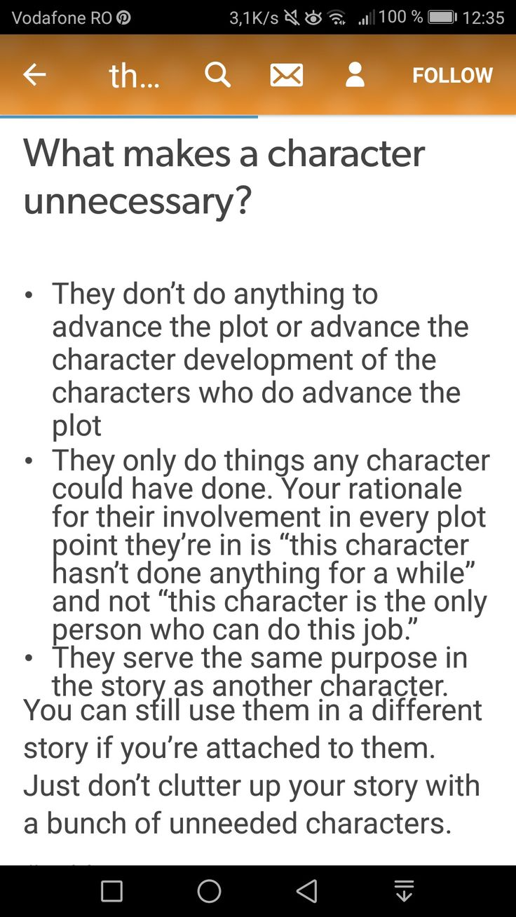 What makes a character unnecessary?