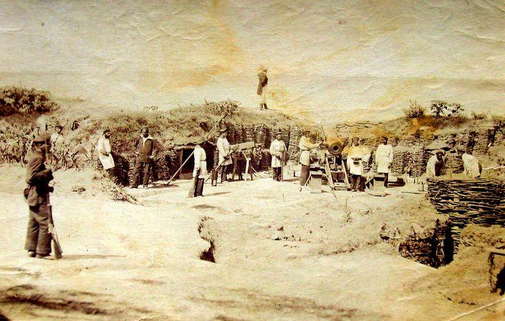 "Carol Popp de Szathmári - Artillery Battery ""Elizabeth"" in Calafat on the Danube (The Russo-Turkish War), 1877"