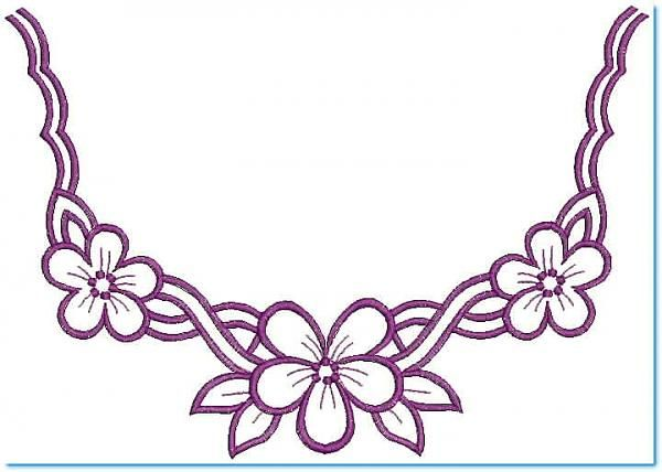 Embroidary designs free neckline embroidery design