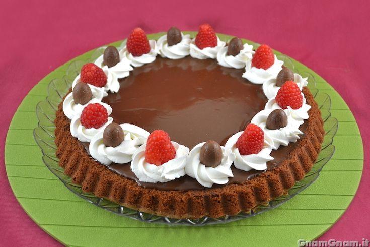 • Crostata morbida al cioccolato - Ricetta Crostata morbida al cioccolato
