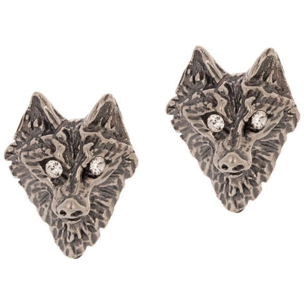 Tom Binns Wolf Stud Earrings found on Polyvore