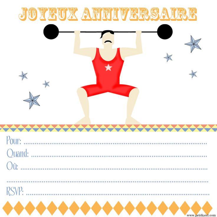invitation #circus #party free #printables