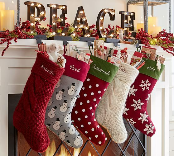 Personalized Chunky Knit Stockings Christmas Stockings