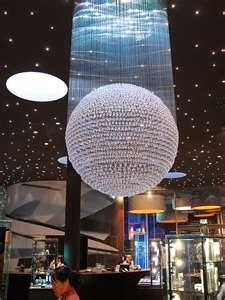 An exquisite crystal chandelier at the Swarovski Kristallwelten (Crystal Worlds) at Watten in Austria.