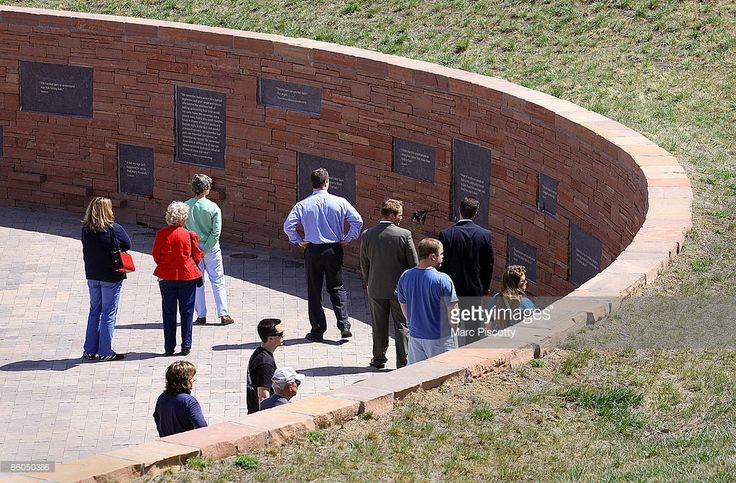 Wall was built to commemorate the ten-year anniversary of the Columbine High School shootings at the Columbine Memorial Park April 20, 2009 in Littleton, Colorado. Columbine was the site of the deadliest school shooting in modern United States history when, on April 20, 1999, Eric Harris and Dylan Klebold killed 12 students and one teacher, and wounded 23 others, before taking their own lives. The wall represents the tragedy that happened by honoring those who lost their lives to the event.