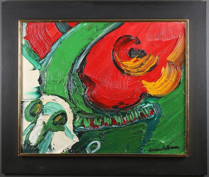 65 x 81 cm.  Proveniens: Inköpt direkt från konstnären på 1960-talet i hans ateljé utanför Sundsvall, därefter i arv till nuvarande ägare. - Auctionet
