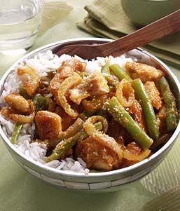 Rode Curry van Kalkoen en Boontjes