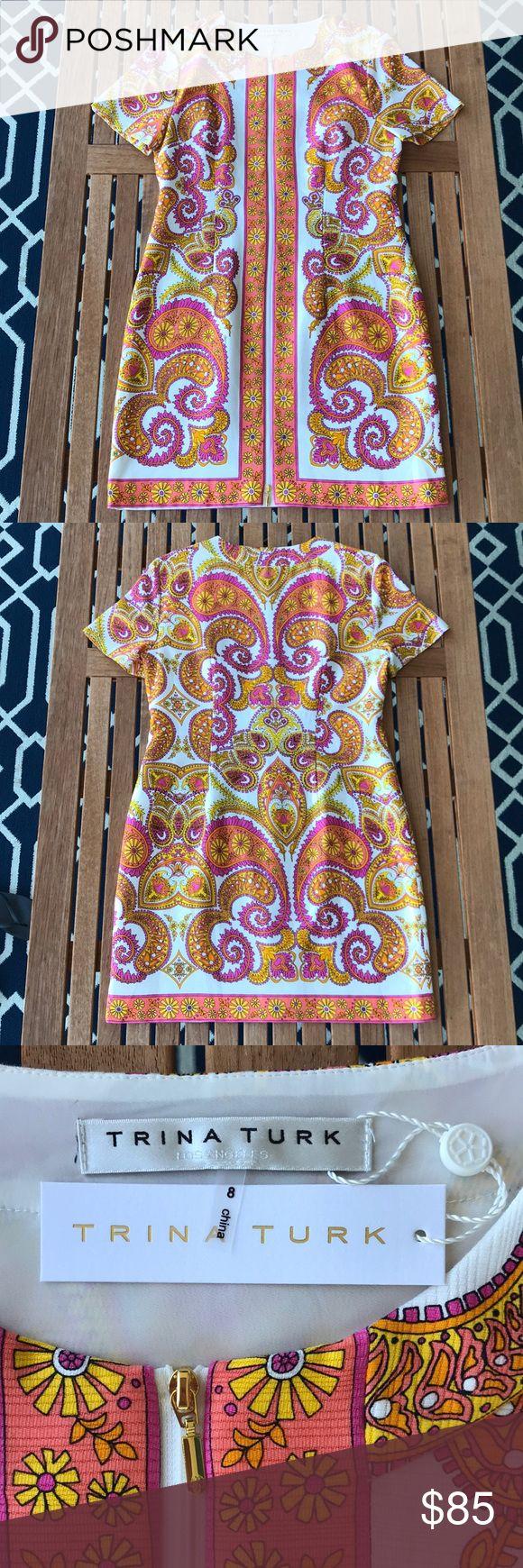 NWT Trina Turk Paisley Dress, Size 8 Playful yet poised NWT Trina Turk dress wit…