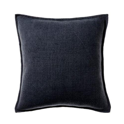Vintage Washed Linen Cotton Dark Grey Cushion