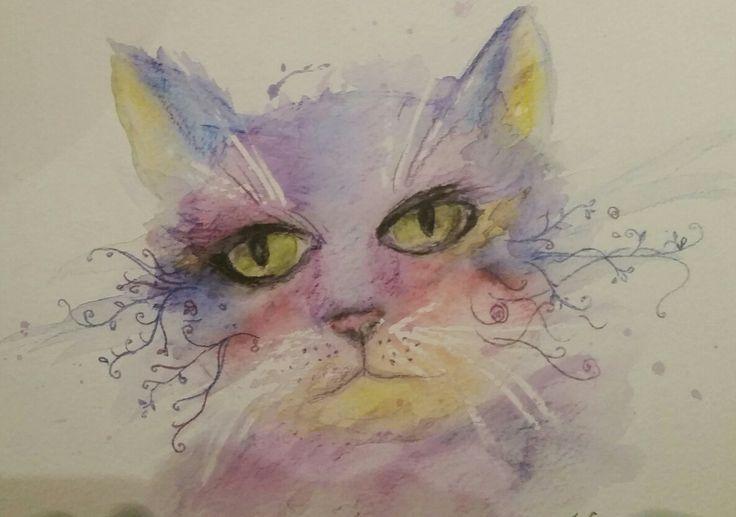 Zen cat by Jo Cooke