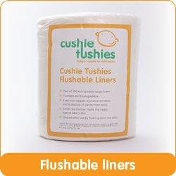 Cushie Tushie Flushable Liners (roll of 100) - $16
