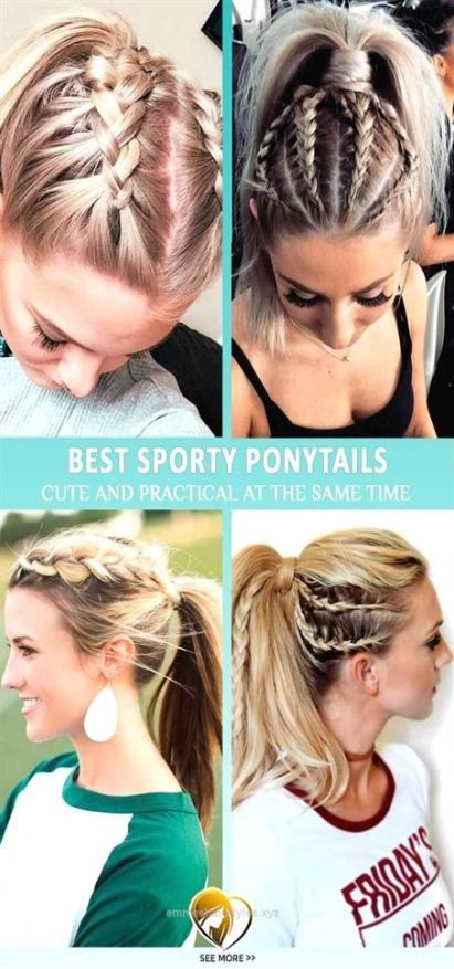 Braids for sports volleyball gym hairstyles 50 Ideas