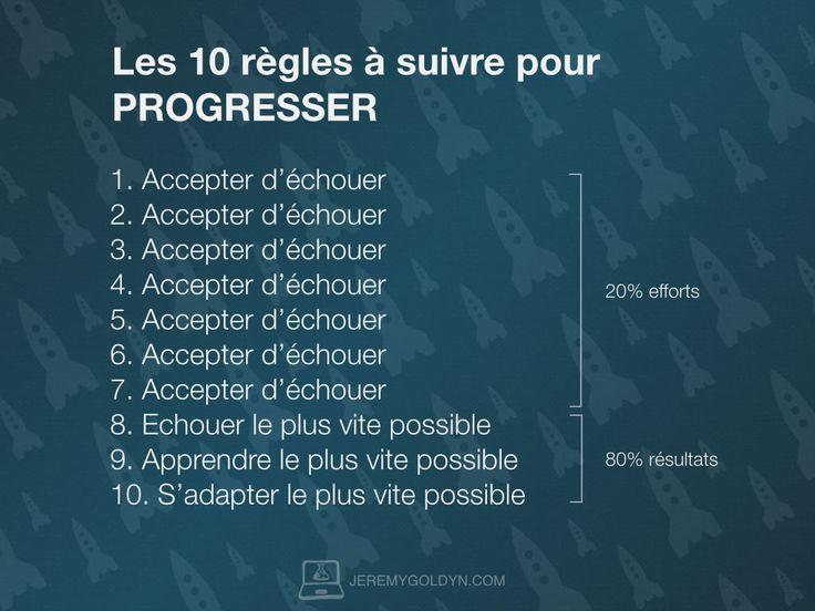 10 étapes pour PROGRESSER - http://www.jeremygoldyn.com/comment-progresser/