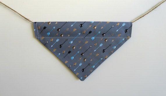 arrow dog bandana  over the collar dog by PawsitiveShopping