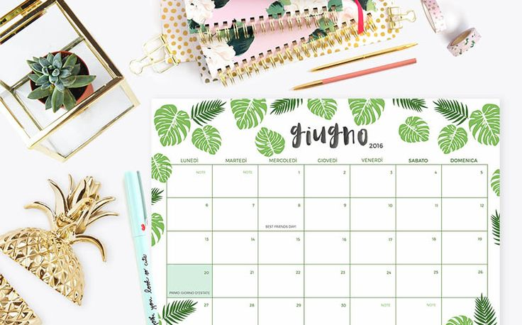 Calendario stampabile gratuito freebies printable | Sonia Grispo