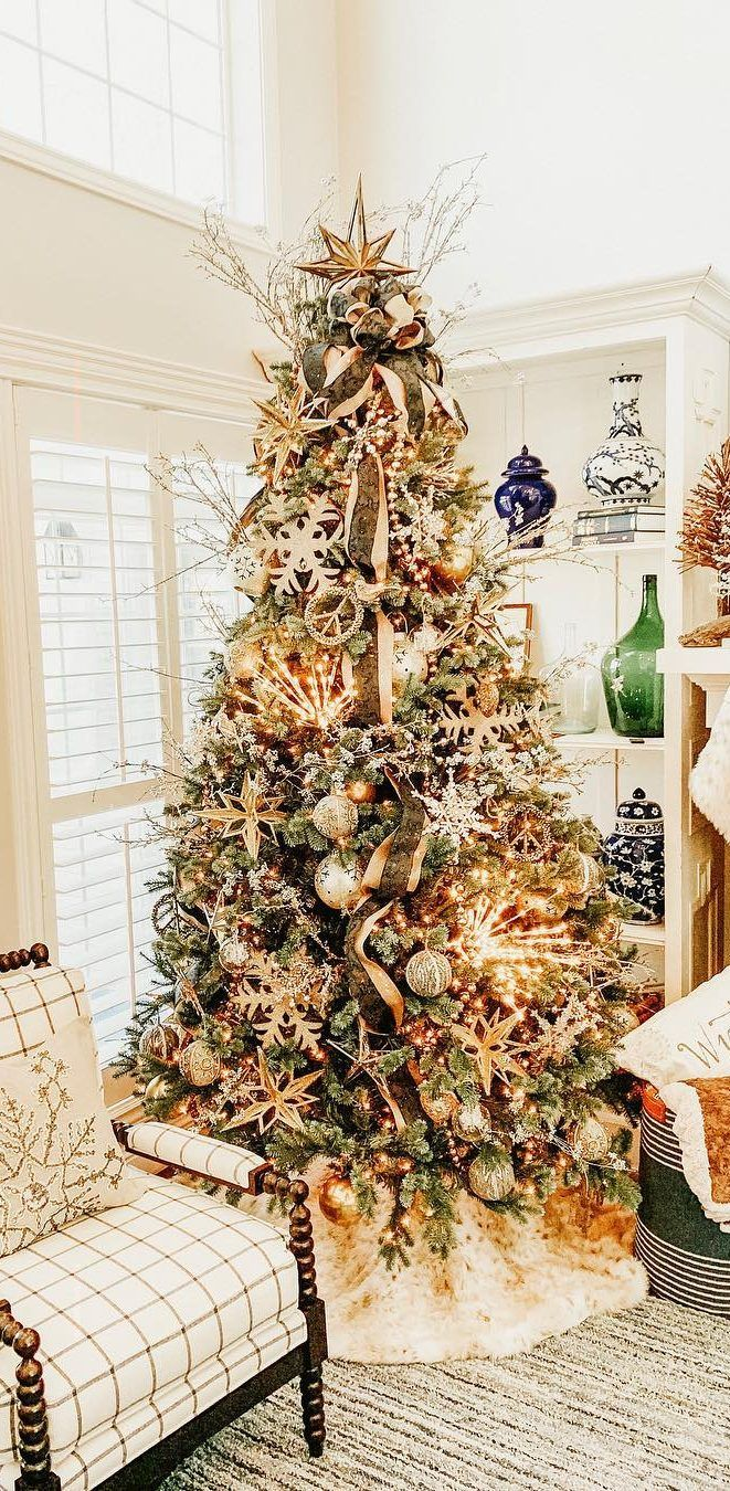 40 Awesome Christmas Tree Decoration Ideas For New Year 2019 Page 11 Of 40 Ladiesways Com Women Hairstyles Blog Luxury Christmas Tree Christmas Tree Decorations Christmas Tree Decorating Themes