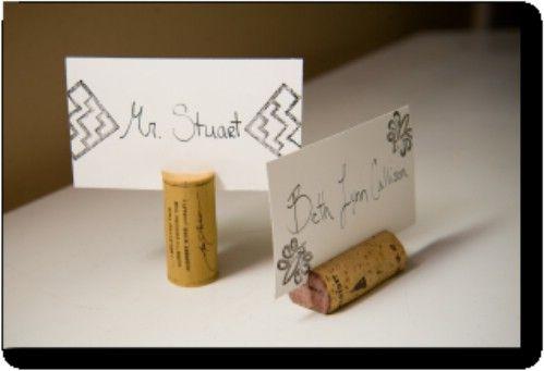 Wijn Cork plaats kaarthouders