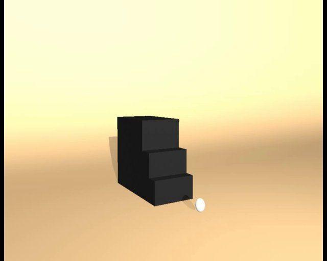 Una pequeña animación de una pelota de pingpong en 3D