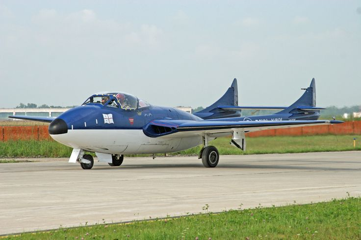 De Havilland Vampire at the Thunder Over Michigan Airshow, 2014. Photo by Tom Demerly.