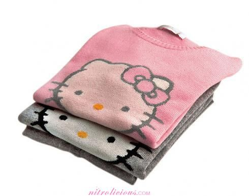 Hello Kitty cashmere. *swoon*