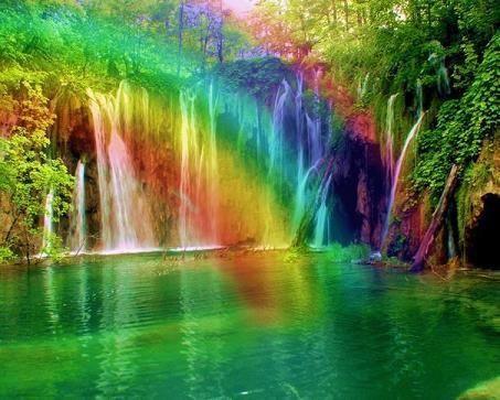 Niagara Falls At Night Wallpaper Waterfall And Rainbow Waterfalls Pinterest