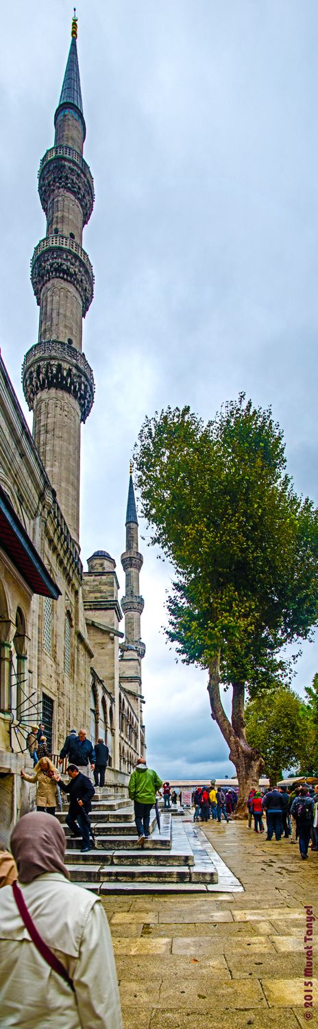 The Minarets of Sultan Ahmet - Ayasofya, Istanbul-Photographer's Note The Sultan Ahmed Mosque is first one of the two mosques in Turkey that has six minarets, the second one being the Sabancı Mosque which opened to service in 1998 in Adana. When the number of minarets was revealed, Sultan Ahmed I was criticized for being presumptuous, since this was the same number of minarets that the mosque of the Kaaba in Mecca had. He solved this problem by ordering a seventh minaret to be built at the…