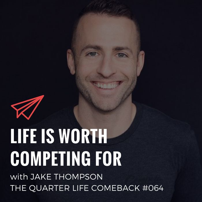 In this episode of The Quarter Life Comeback podcast, I chat to Jake Thompson about starting from scratch, experimenting with #projects and competing every day.  Listen now: http://bryanteare.com/life-competing-jake-thompson/?utm_content=buffer6dd48&utm_medium=social&utm_source=pinterest.com&utm_campaign=buffer